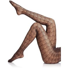 Falke Allover Ajour Tights (67 CAD) ❤ liked on Polyvore featuring intimates, hosiery, tights, apparel & accessories, brown, falke, brown stockings, brown patterned tights, falke pantyhose и crochet stocking