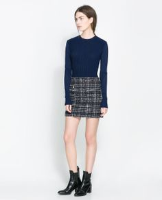 Image 1 of MINI SKIRT WITH ZIP DETAILS from Zara