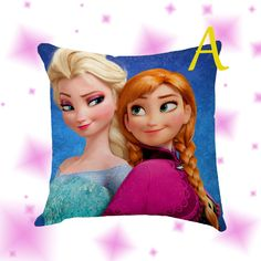 Frozen Princcess and Queen Pillow Cover Case by Globbie on Etsy