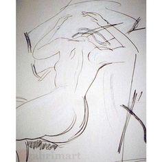 unnamed sketch, sketch on aquarelle paper.