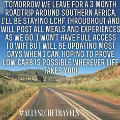 I will be using #AllysLCHFtravels as we go so follow us that way too. I am determined to show that traveling need not be a reason to go off #LowCarb eating. We'll be going through #SouthAfrica #Namibia #Botswana #Zambia #Zimbabwe #Malawi #Tanzania #Kenya and #Mozambique - watch this space!  #lowcarbs #lowcarbstyle #lowcarbdiet #lowcarbliving #lowcarblifestyle #Keto #ketones #ketosis #ketodiet #ketoadapted #goodfats #eatfat #jerf #nsng #health #nutrition #NutritionalKetosis #nsng by…