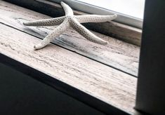 Custom stained coastal wood window sill inserts by The Coastal Drift Co. Wood Window Sill, Window Sill Decor, Wood Windows, Large Windows, Mish Mash, Little Plants, Coastal Decor, Glass Bottles, Small Spaces
