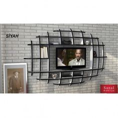 Sanal Mobilya Yeni Nesil Elips TV Ünitesi ve Kitaplık