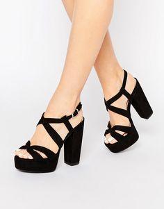 Image 1 of New Look Wide Fit Platform Sandal