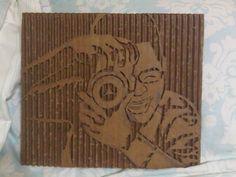 Deconstructed cardboard art