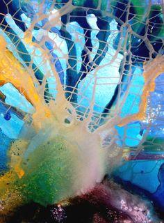 "Saatchi Online Artist: Khusro Subzwari; Acrylic, 2009, Painting ""Earth's Beauty Camoufladged"""