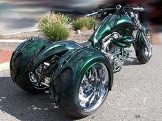 Frankenstein Trikes Harley-Davidson Pic-Up Trike Harley Davidson Low Rider, Harley Davidson Custom Bike, Harley Davidson Motorcycles, Custom Trikes, Custom Choppers, Custom Harleys, 3 Wheel Motorcycle, Motorcycle Paint Jobs, Tricycle Motorcycle