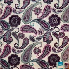 Peri Luxury Towel Set of 3 Pieces -- Wash Cloth,Hand Towel,and Bath Towel Paisley White Purple Teal Black Lavender: Amazon.com: Home & Kitchen