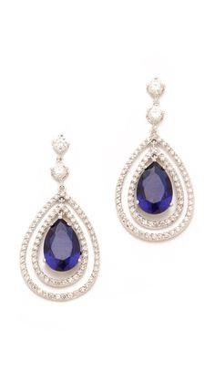 Stunning Kenneth Jay Lane Pave Pear Drop Earrings. -- Grace Ormonde Wedding Style