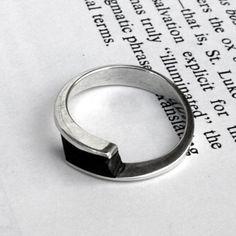 Big Blue Aquamarine ring finest sterling silver ring with por Menno