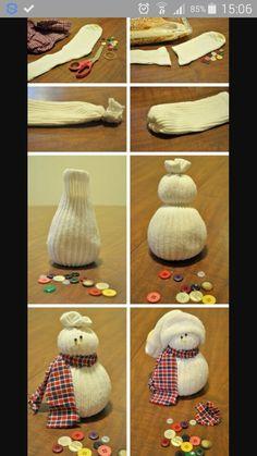 jak na sněhuláka z ponožky