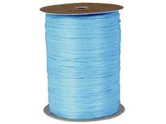 Paper Raffia Ribbon in dozens of pretty colors! Nashville Wraps is your source for Paper Raffia Ribbon! Light Colors, Light Blue, Aqua, Coral, Blue Crafts, Wraps, 100 Yards, Paper Ribbon, Blue Gift