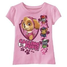 Girls Nickelodeon Paw Patrol Calling All Pups Shirt New with Tags Size 3T Kids! #Nickelodeon #DressyEverydayHoliday