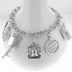 2d2807bee0a5fe Sterling Silver Charms - Free Shipping. Sterling Silver Charm BraceletCharm  ...