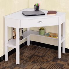 Cheap office furniture, Buy Quality modern office furniture directly from China office table furniture Suppliers: Goplus Corner Computer Desk Laptop Writing Table Wood Workstation Modern Home Office Furniture with Drawer and Shelf Small Corner Desk, Corner Writing Desk, Desks For Small Spaces, Corner Table, Writing Table, Corner Nook, Round Corner, Kids Corner, Best Office