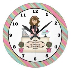 Will work for Shopping Discounts wall clock