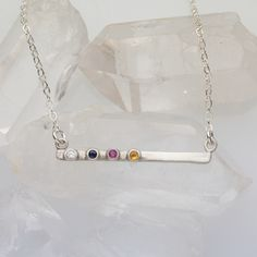 A cross bar provides stability, and that's what you provide for me. We are better together! (Love the idea of doing this with birth stones for all 5 of us.)