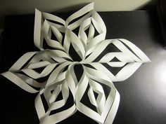 Snowflakes from scrapbook paper