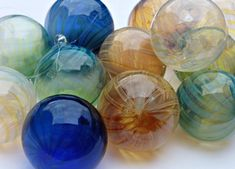 Mix and Match 5Hand Blown Glass Christmas by LampworkBench on Etsy