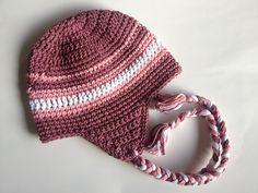 Ravelry: Striped Ear Flap Hat pattern by A. Crochet Scarves, Crochet Yarn, Crocheted Hats, Free Crochet, Crotchet, Crochet Crafts, Crochet Projects, Beanie Hats, Beanies