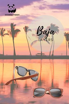 Our Baja Layers Glasses feature stunning layers of wood handcrafted to perfection. Stand out this summer! Fashion Photo, Sustainability, Layers, Shades, Sunglasses, Wood, Nature, Summer, Layering