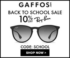 Back to School Sale. Use Code: SCHOOL at Checkout and Get 10% OFF For All Ray Ban