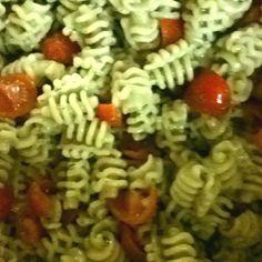 Basil @ olive oil pasta salad.