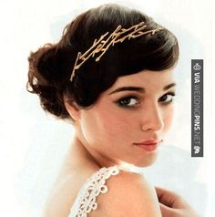 Wedding hairstyle - Golden Twig Hair Pins from Woodland Belle | CHECK OUT MORE GREAT WEDDING HAIRSTYLES AND WEDDING HAIRSTYLE PICS AT WEDDINGPINS.NET | #weddings #hair #weddinghair #weddinghairstyles #hairstyles #events #forweddings #iloveweddings #romance #beauty #planners #fashion #weddingphotos #weddingpictures