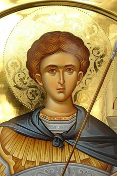 ST. GREAT MARTYR DEMETRIOS Orthodox Catholic, Orthodox Christianity, Religious Icons, Religious Art, Roman Church, Saints And Sinners, Byzantine Icons, Art Icon, Saint George