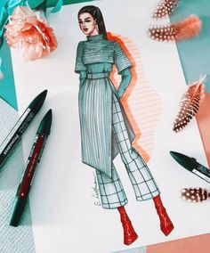 Dress Design Drawing, Dress Design Sketches, Fashion Design Sketchbook, Fashion Design Drawings, Fashion Sketches, Dress Designs, Fashion Figure Drawing, Fashion Model Drawing, Fashion Drawing Dresses
