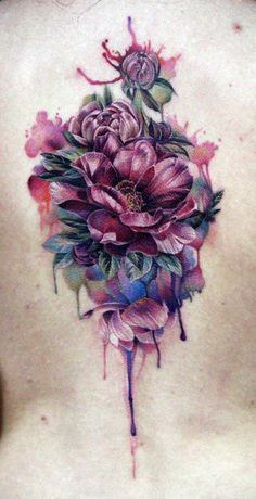 Flower Bouquet Tattoo by Anna Beloziorova