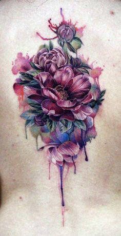 Flower Bouquet Tattoo by Anna Beloziorova