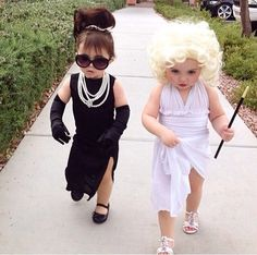 Such a cute Halloween costume for two little girls!