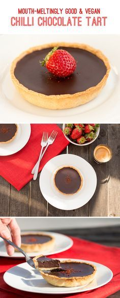 Mouth-meltingly good Chilli Chocolate Tart. Requires only 9 ingredients and delivers bucket-loads of flavor!