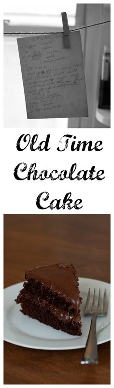 Our antique recipe for Chocolate Cake.  An amazing simple recipe with a hint of cinnamon.  bloggingwithapples.com