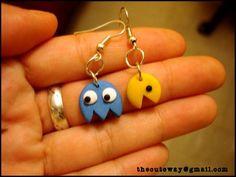 Pacman earrings by ~SaMtRoNiKa on deviantART