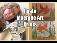 Super easy and fun printmaking with a pasta maker! Great DIY Art project for kids and adults. Do it yourself printing press.
