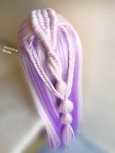4,3 strand infinity/ fishtail braids combo