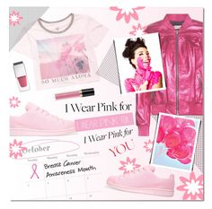 """#wearpink"" by justlovedesign ❤ liked on Polyvore featuring Billabong, adidas Originals, Yves Saint Laurent, Givenchy, Revlon and IWearPinkFor"