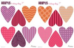 Hearts! For a garland, for your school party, for your house . . .