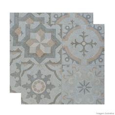 Porcelanato Evora Decora HD 52x52cm grey Porto Ferreira - Telhanorte