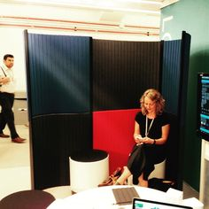 Carving out some quiet space with @loftwall at @neocon_shows #neocon15 #NeoConography #acousticsolutions #panels #products #design #interiordesign