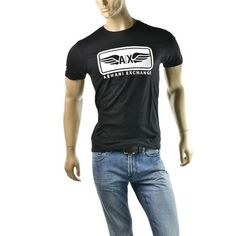 #Armani Exchange A|X Signature Wings Logo Tee T Shirt  | get dressed at #imagestudio714 http://imagestudio714.com   please follow repin and share