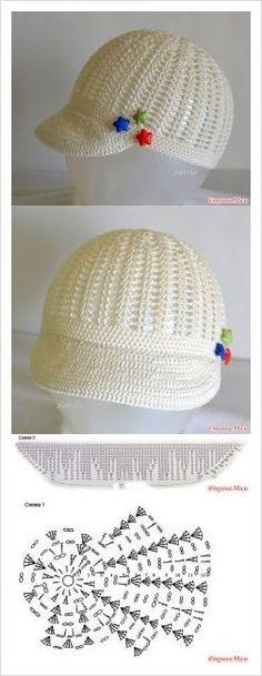 Exceptional Stitches Make a Crochet Hat Ideas. Extraordinary Stitches Make a Crochet Hat Ideas. Bonnet Crochet, Crochet Cap, Crochet Baby Hats, Crochet Beanie, Crochet For Kids, Knitted Hats, Crochet Pattern Free, Crochet Flower Patterns, Crochet Flowers