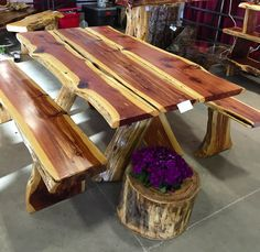 Nice Rustic Cedar Stump Tables Rustic Furniture