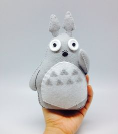 Handmade Totoro in Felt inspired  - plush toy decor - kawaii