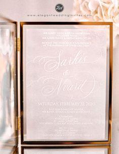 Frosted dreams raised uv printing technology on translucent vellum Paper Wedding Invitations EWUV038