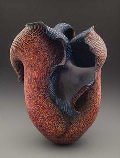 Melanie Ferguson - 'Canyon Girl' - Handbuilt stoneware, sgraffito through pigmented slip, hand-rubbed beeswax finish.