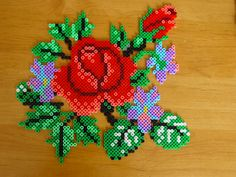 Flowers hama beads by Hester