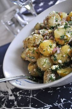 Potato Dishes, Potato Recipes, New Recipes, Salad Recipes, Cooking Recipes, Healthy Recipes, Healthy Food, Recipies, Food N